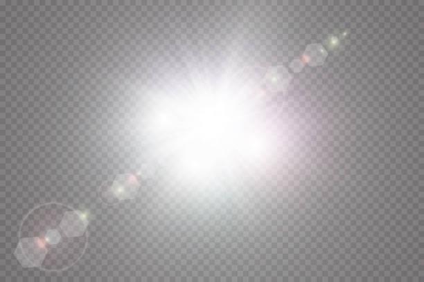 向量透明陽光特殊鏡頭耀斑效果。 - 明亮 幅插畫檔、美工圖案、卡通及圖標