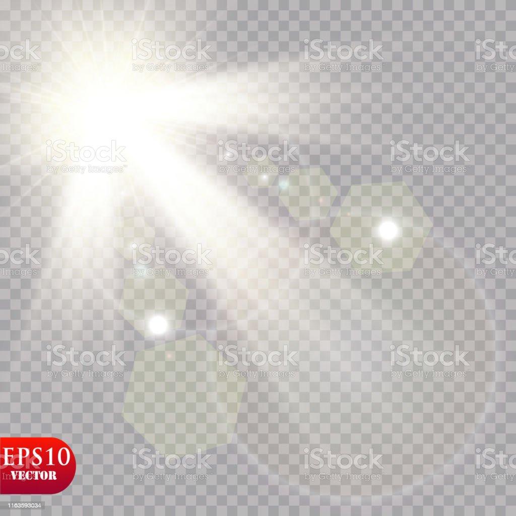 Vector transparent sunlight special lens flare light effect. EPS 10