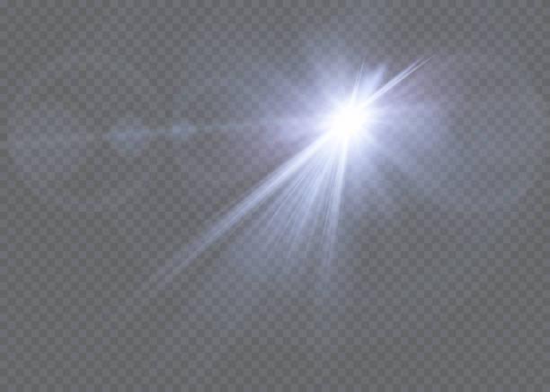 ベクトル透明日光特別なレンズ フレアの光効果。 - 夜明け点のイラスト素材/クリップアート素材/マンガ素材/アイコン素材