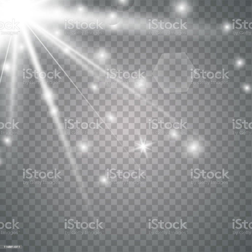Vector transparent sunlight special lens flare light effect. Vector...