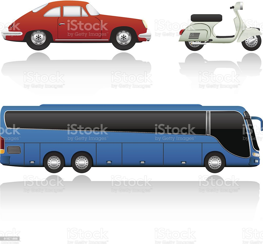Vector Transport Set vector art illustration