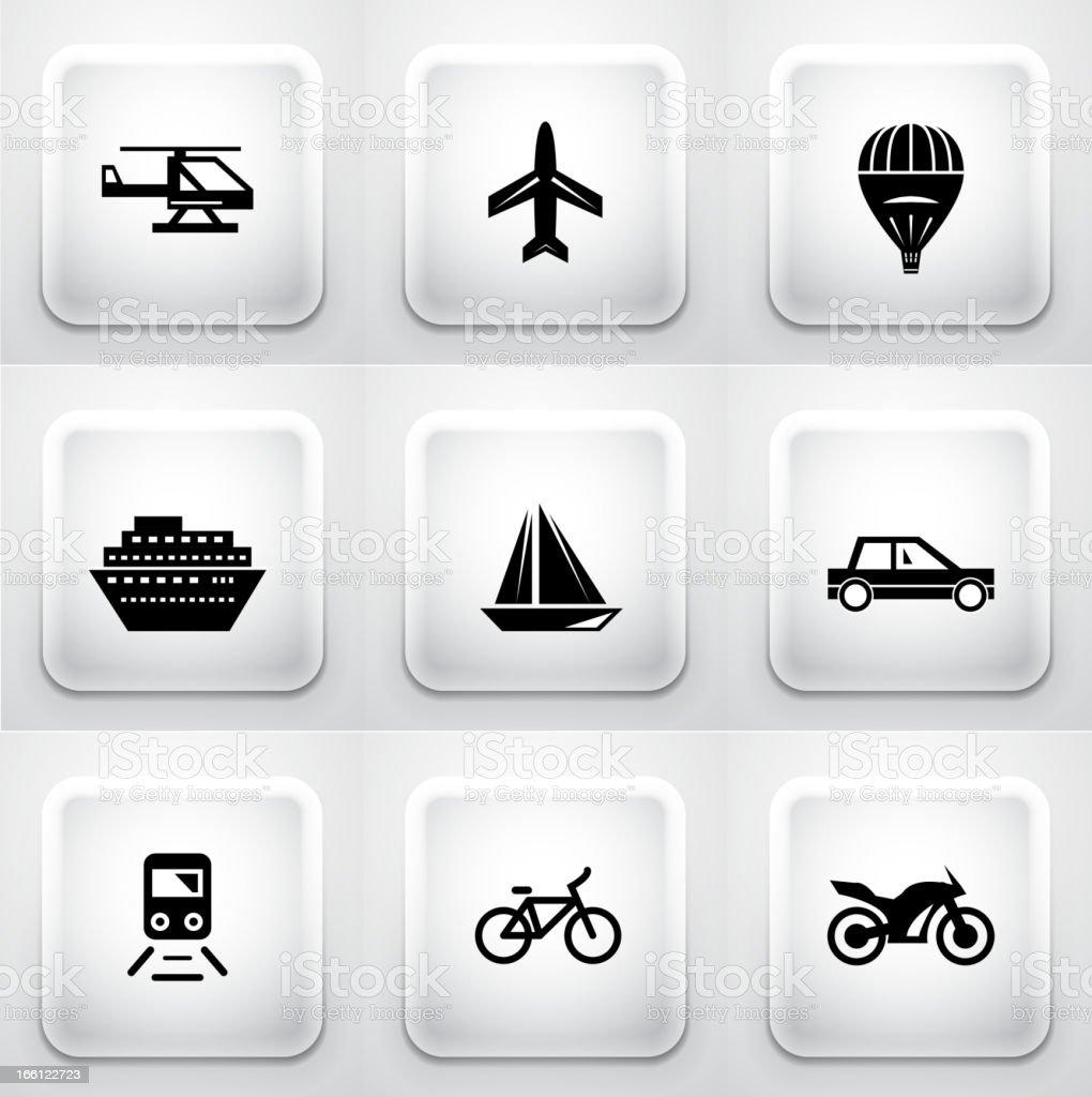 Vector transportation buttons royalty-free stock vector art
