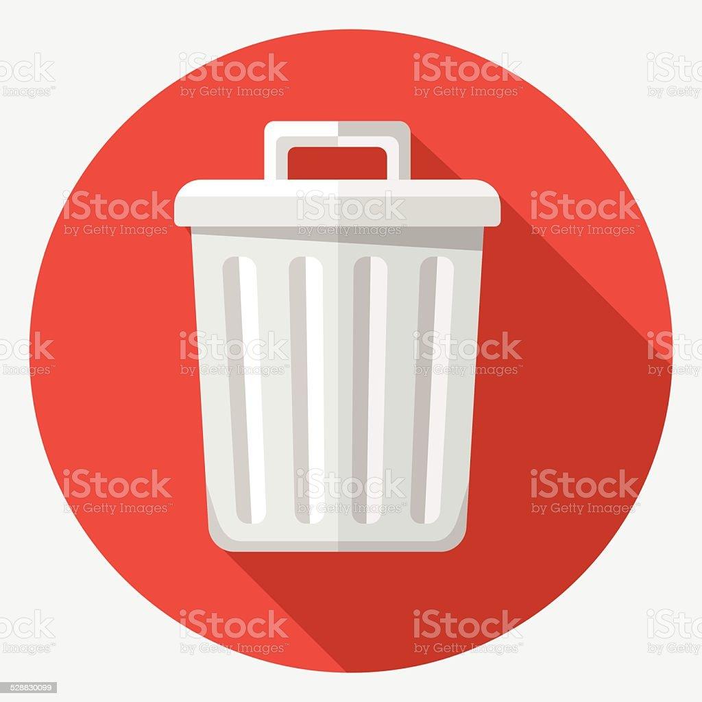 Vector trash icon royalty-free vector trash icon stock illustration - download image now