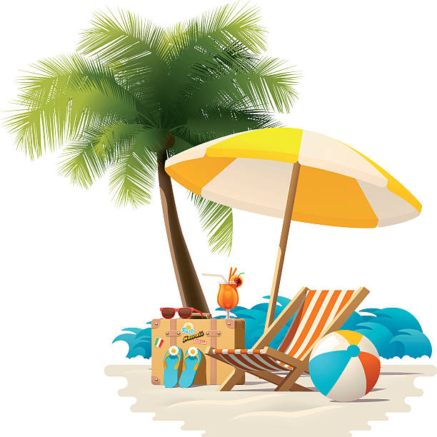 royalty free island vacation clip art vector images