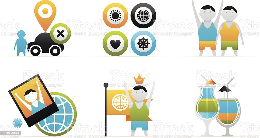 vector travel icons royalty-free vector travel icons stock vector art & more images of adult