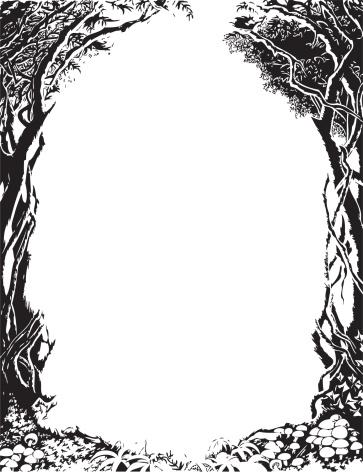 Vector Tree Border