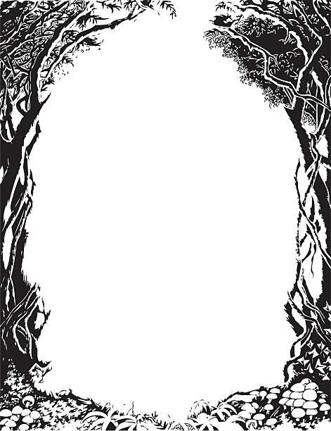 Vecteur arbre frontière - Illustration vectorielle