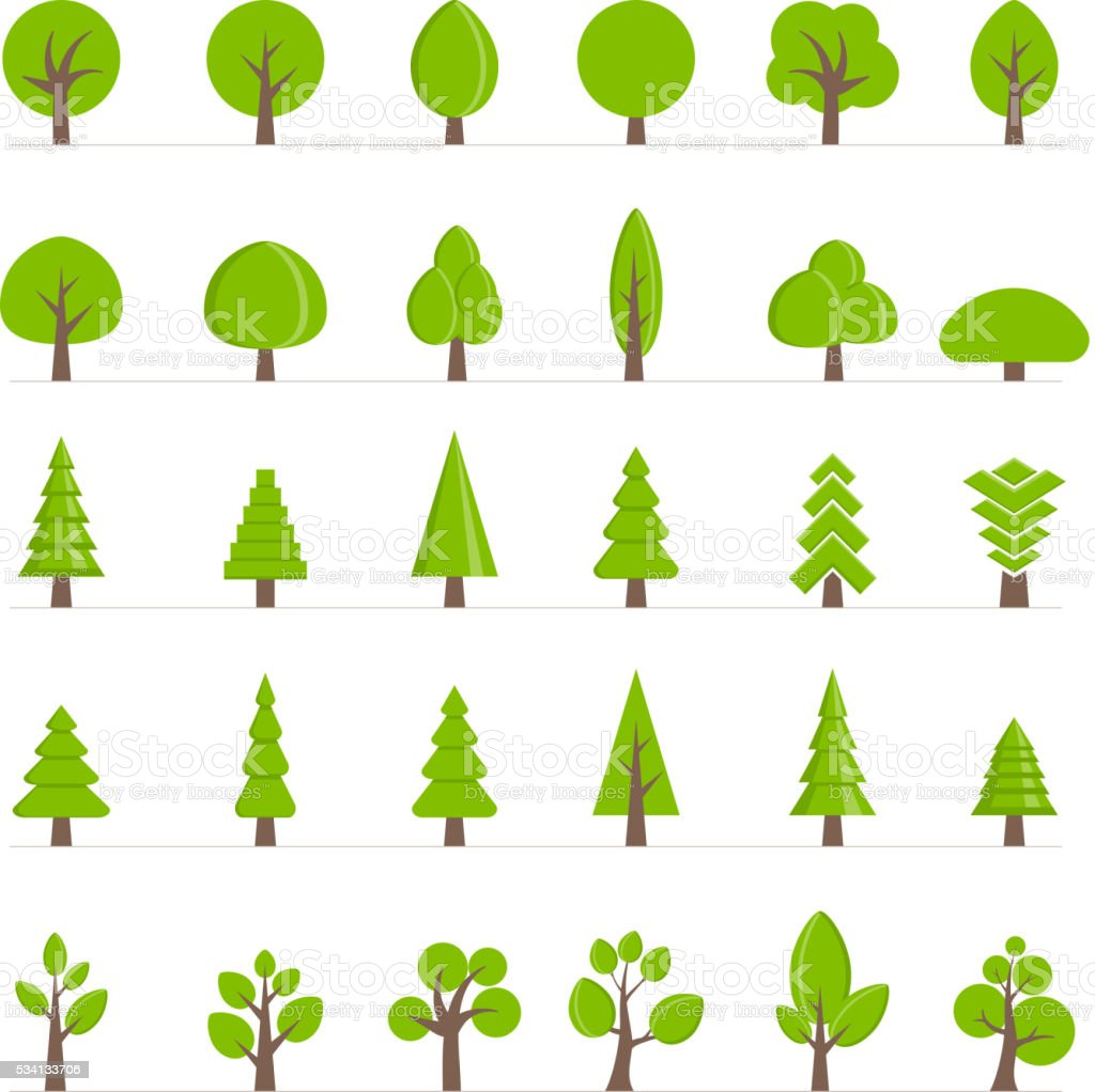 Vector tree collection. vector art illustration