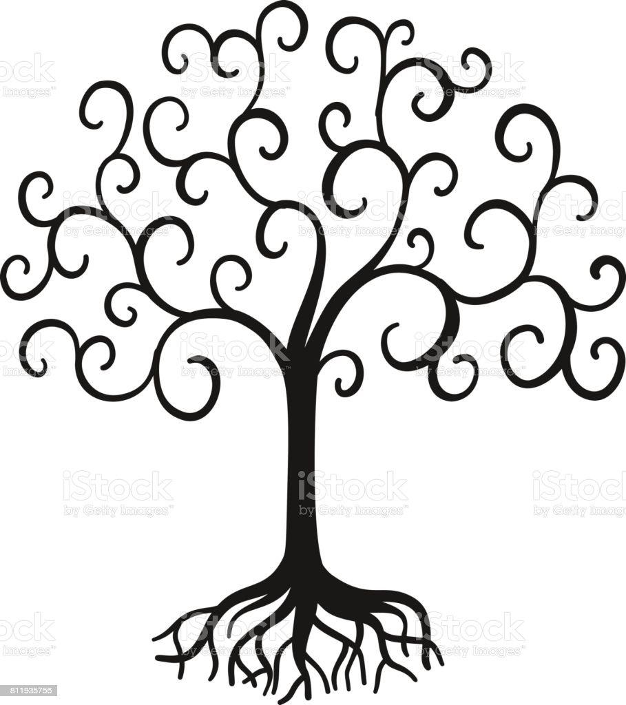 Vector árbol de la vida - ilustración de arte vectorial