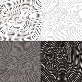 Vector tree rings background, topographic map background concept
