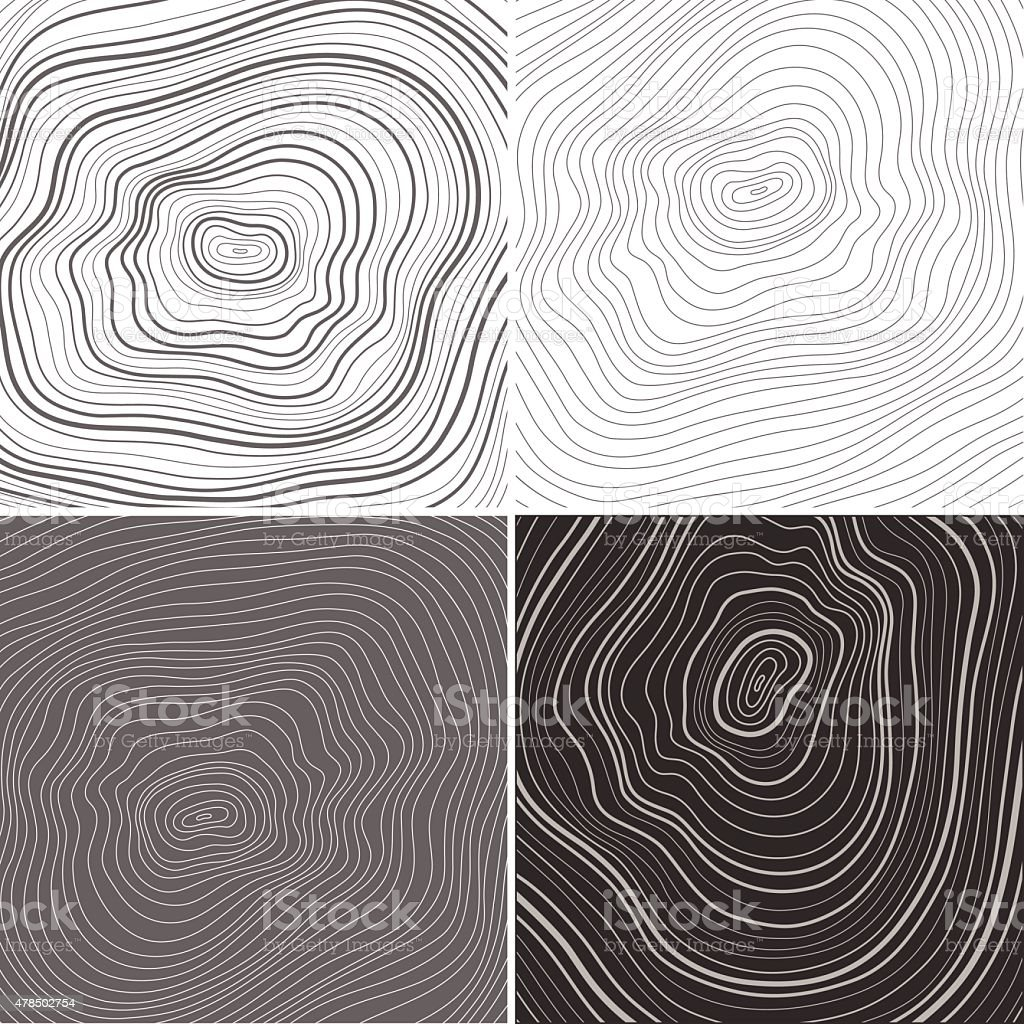 Vector tree rings background, topographic map background concept vector art illustration