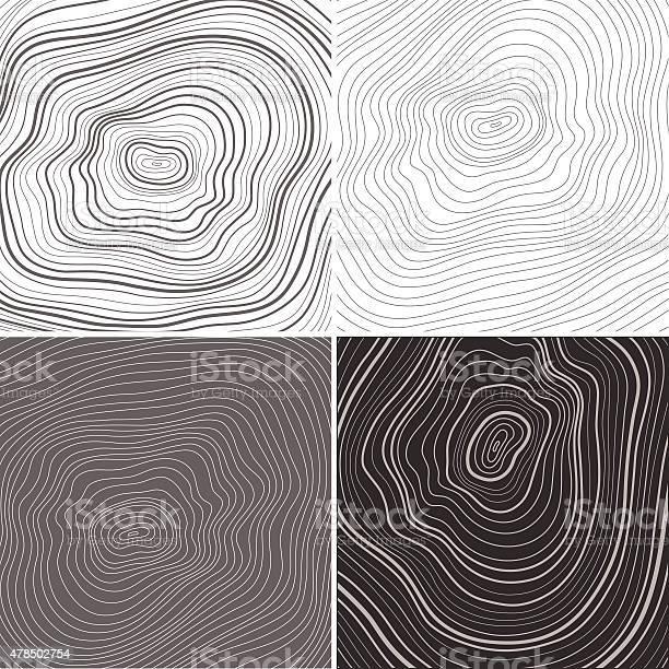Vector Tree Rings Background Topographic Map Background Concept Stockvectorkunst en meer beelden van 2015