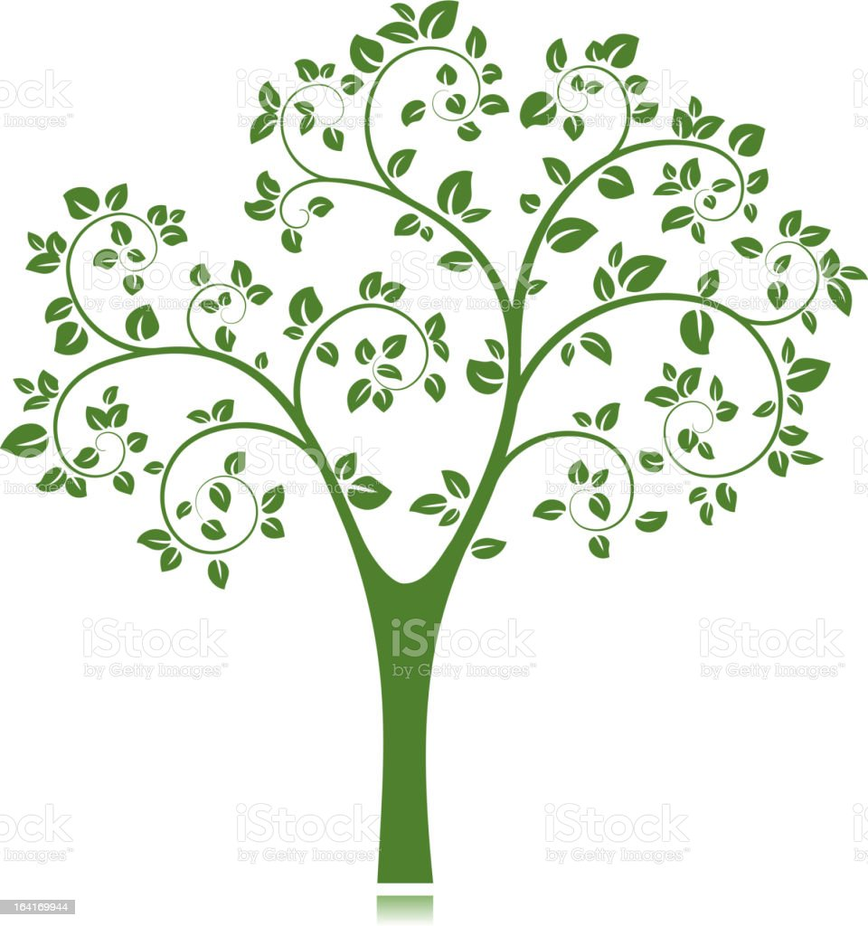 Vector Tree Silhouette royalty-free stock vector art