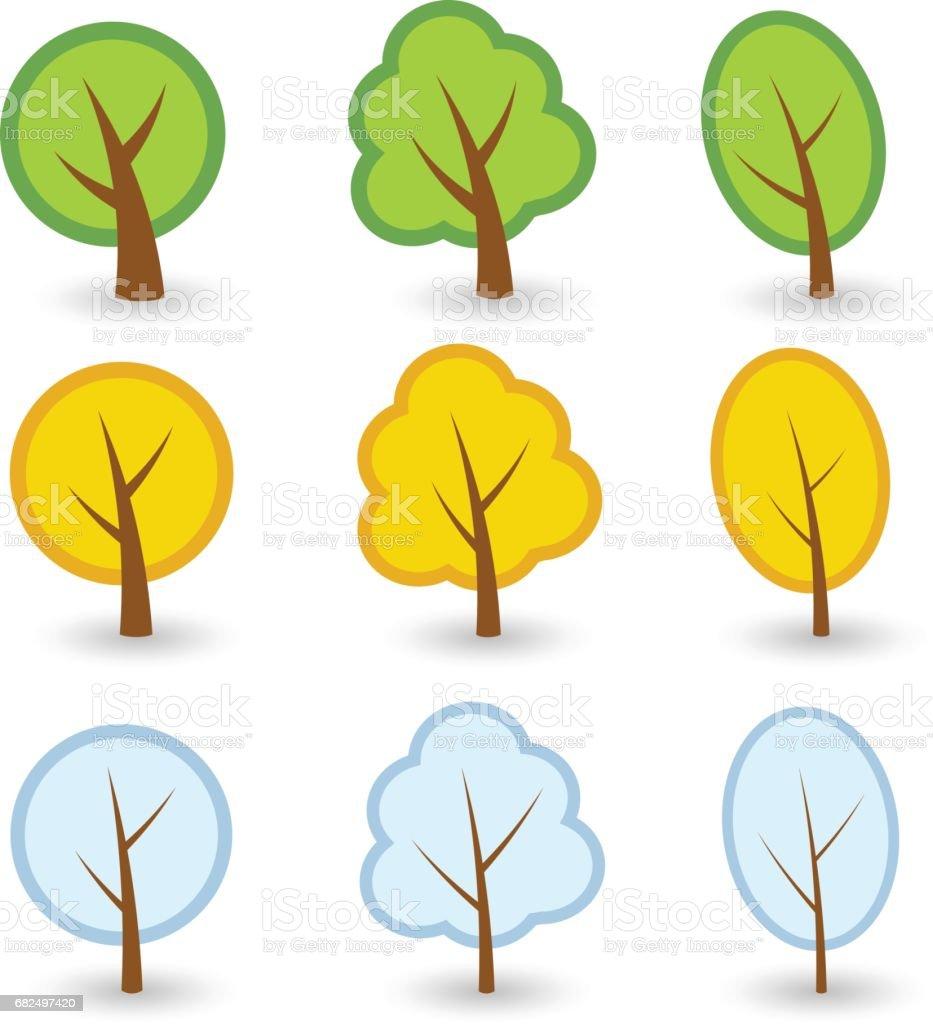 ağaç sembolleri vektör royalty-free ağaç sembolleri vektör stok vektör sanatı & ağaç'nin daha fazla görseli