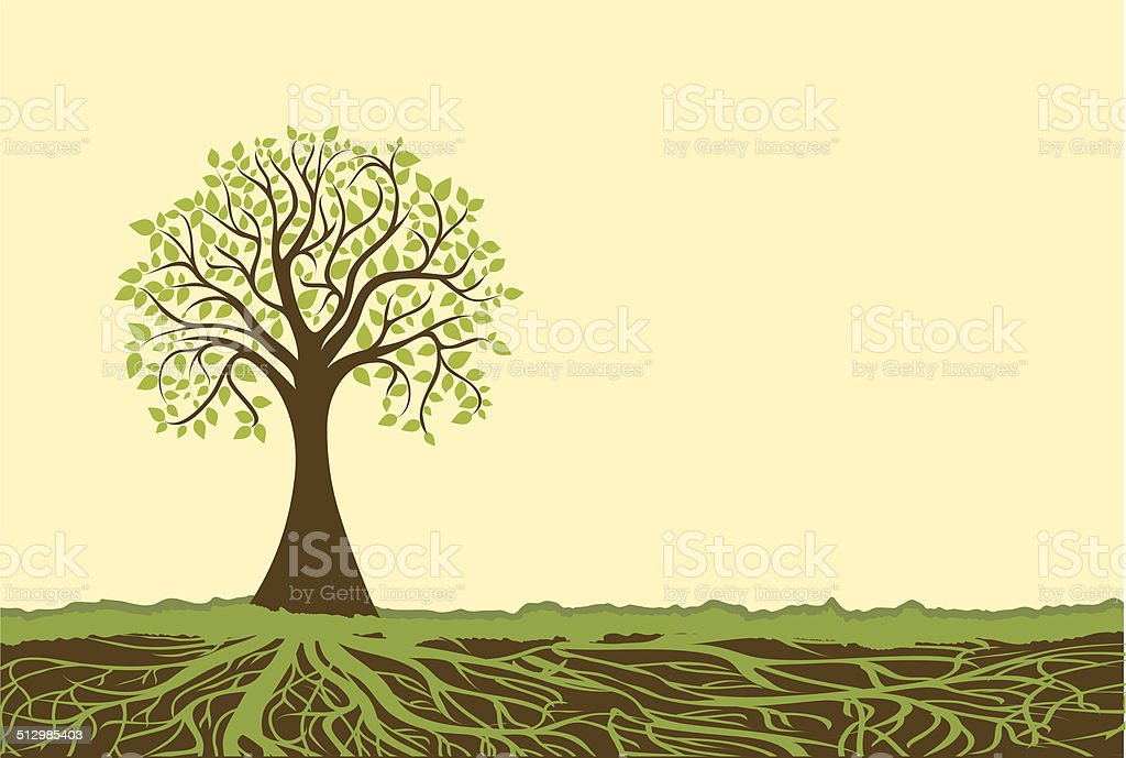 Vector tree vector art illustration