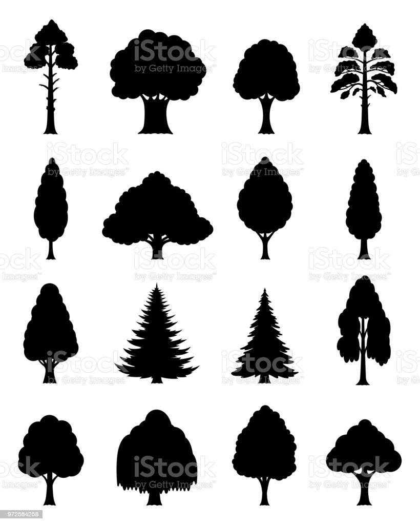 ベクトルの木のアイコン ベクターアートイラスト