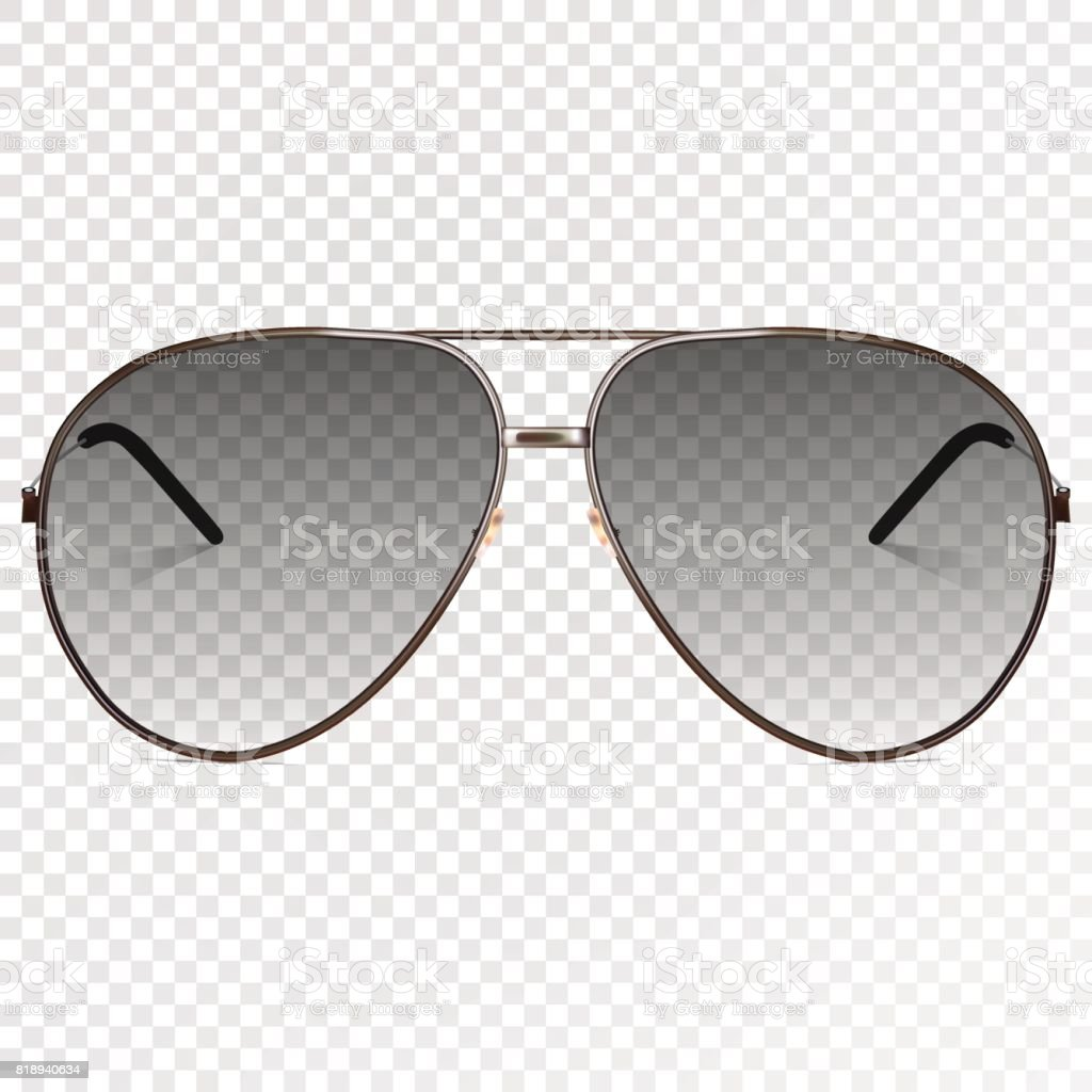 a5a01d2516a0 Vector trendy realistic black eye glasses. Modern sunglasses isolated on  transparent background. Transparency effect for any background color.