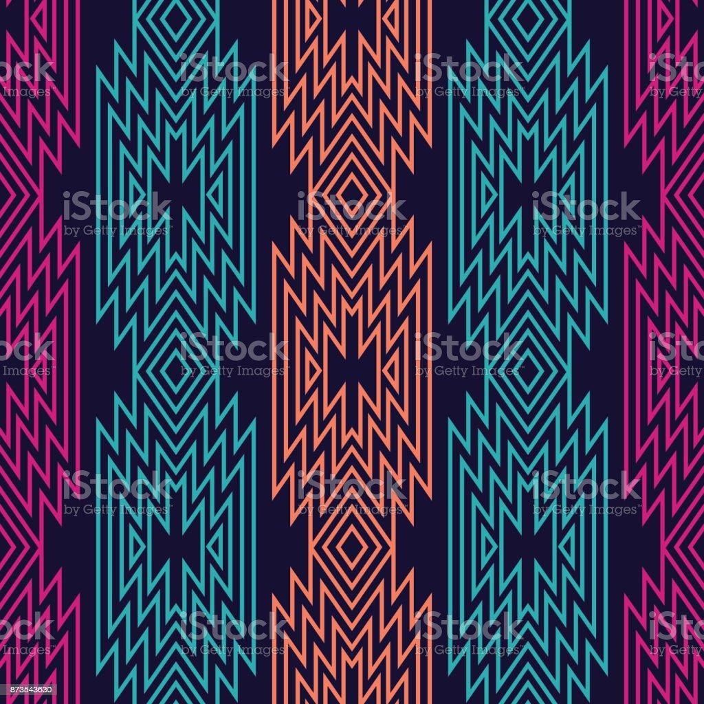 Vector trendy seamless decorative ethnic pattern. Boho geometric style. vector art illustration