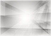 vector triangle and straight line gray geometric abstract background