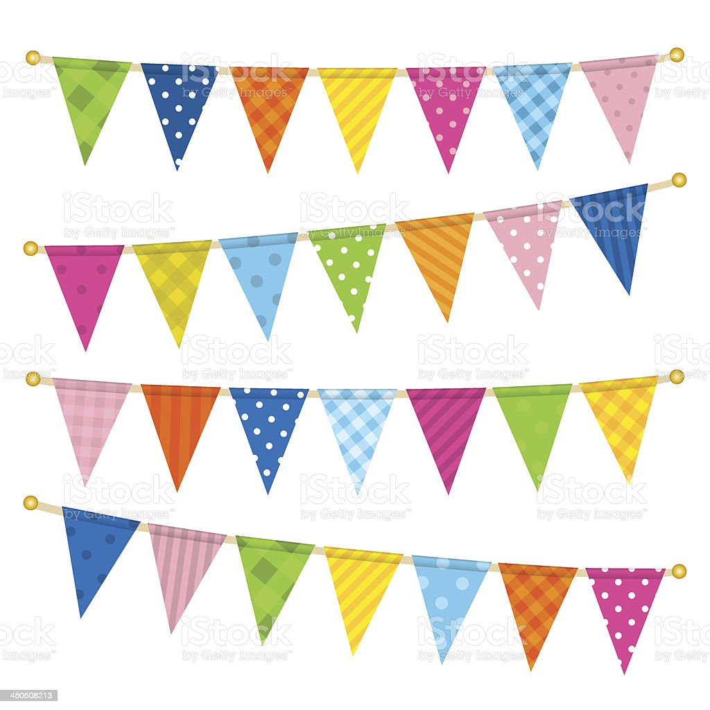 Vector triangle bunting flags royalty-free stock vector art