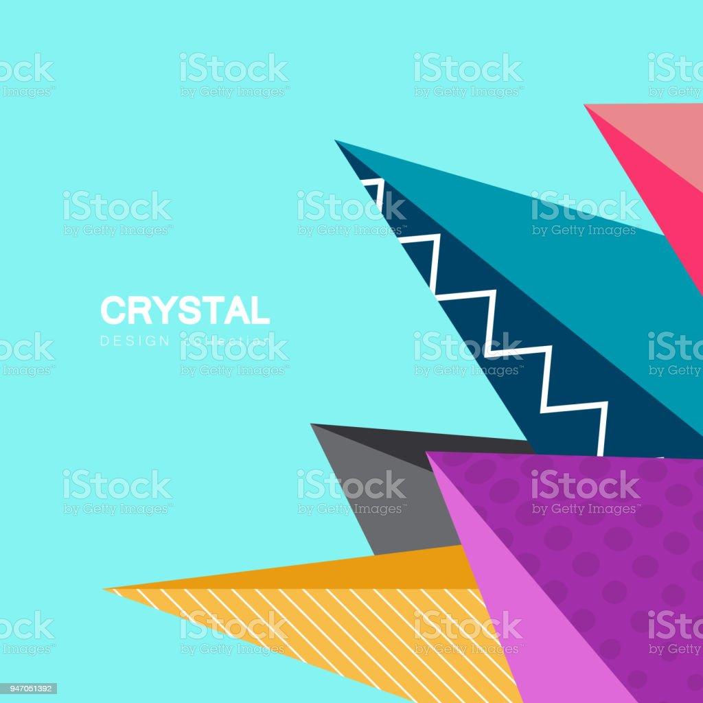 Vektor Dreieck Kristall Design / Geometrie Konzept Hintergrund Lizenzfreies  Vektordreieckkristalldesign Geometrie Konzept Hintergrund