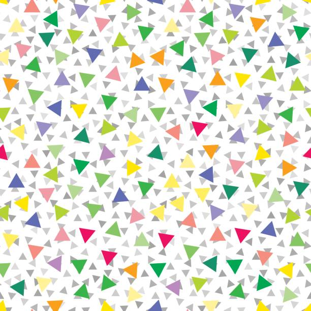 Vector triangle pattern or background vector art illustration