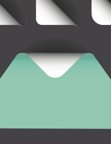 vector triangle with paper curl with shadow isolated set. - skórka stock illustrations