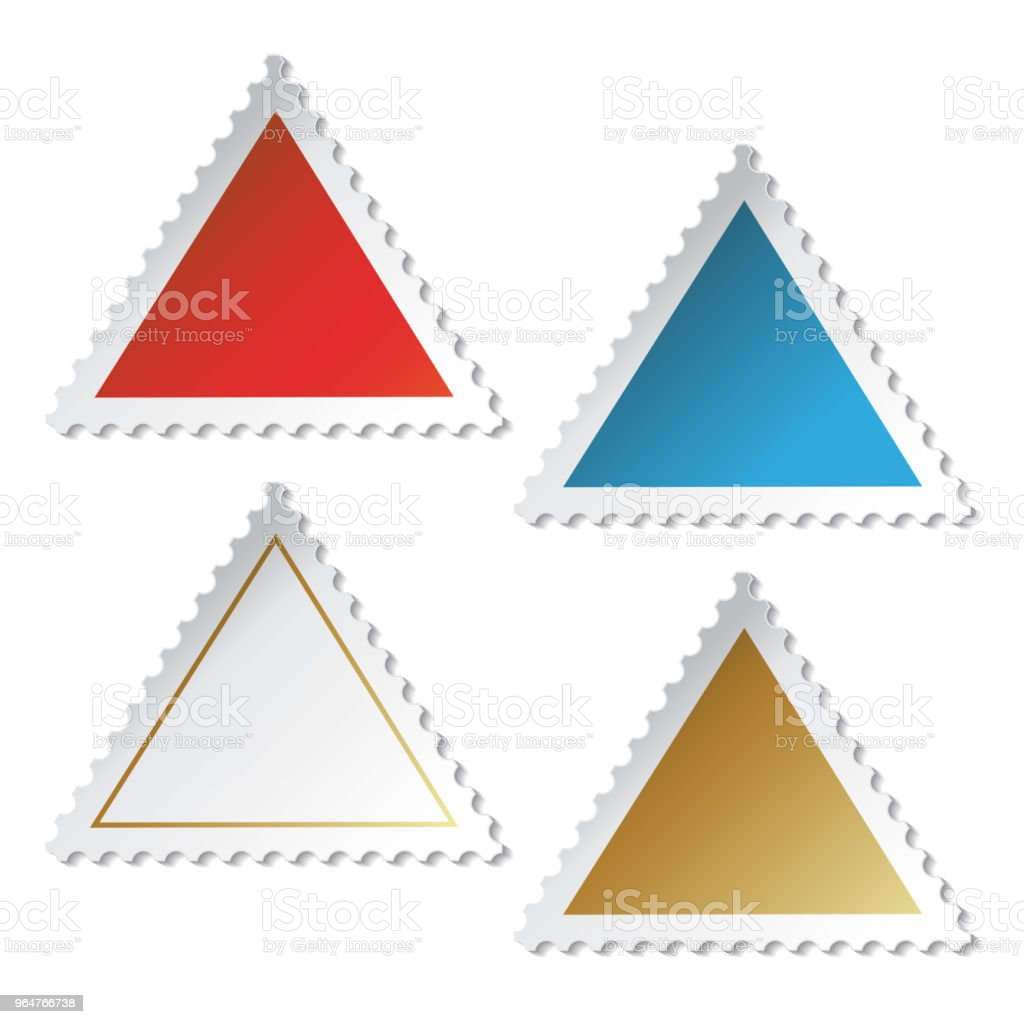 Vector triangles stamp stickers royalty-free vector triangles stamp stickers stock vector art & more images of adhesive note