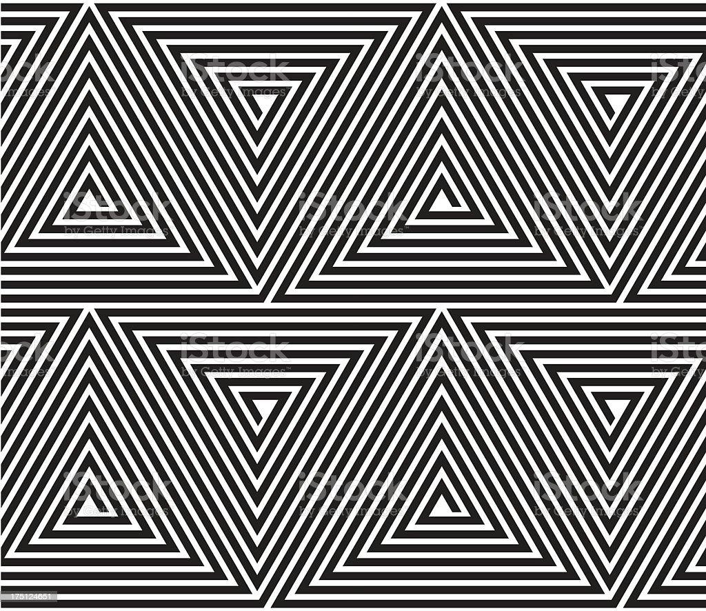 Vector triangular geometric pattern. royalty-free stock vector art