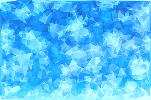 Vector Triangular winter blue ice frost background. Polygonal Art. Low Poly.