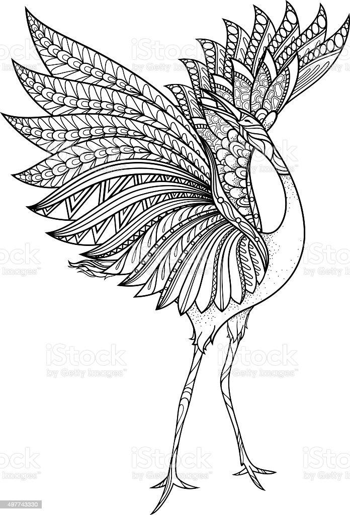 Vector Tribal Decorative Brolga - Royalty-free 2015 stock vector