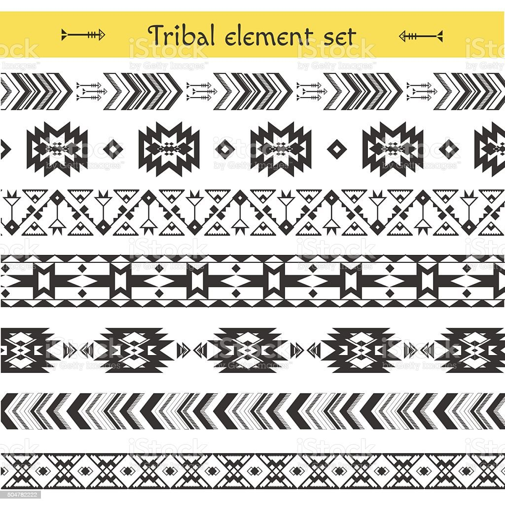 Vector Tribal elements vector art illustration