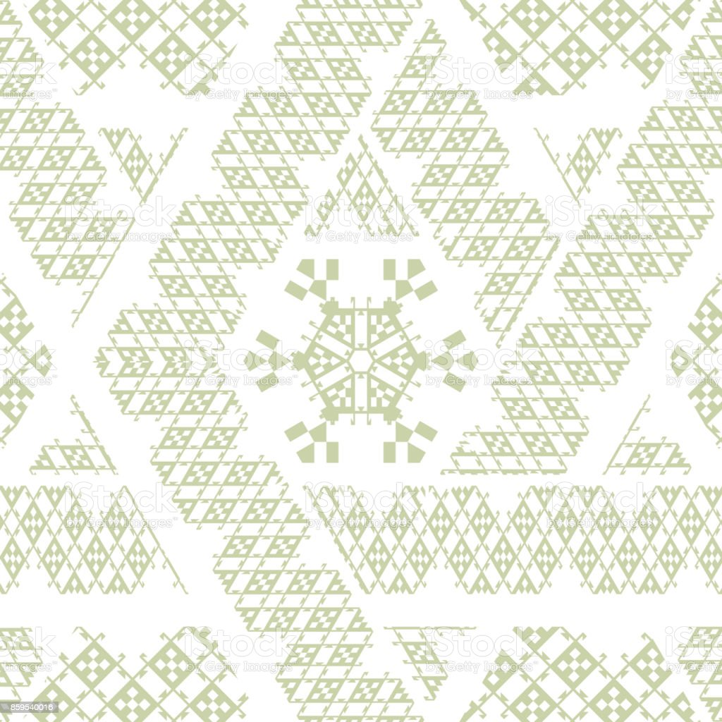 Vector Tribal Mexican Ethnic Seamless Texture Pattern With Stripes