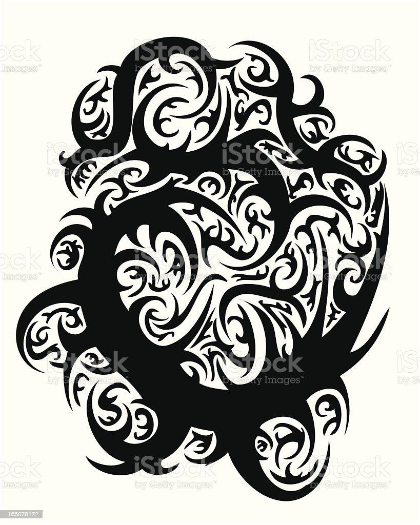 Tatuagem Tribal Vector Design Thorn - ilustração de arte em vetor