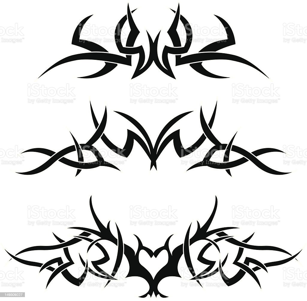 Vector tribal tattoos royalty-free vector tribal tattoos stock vector art & more images of art