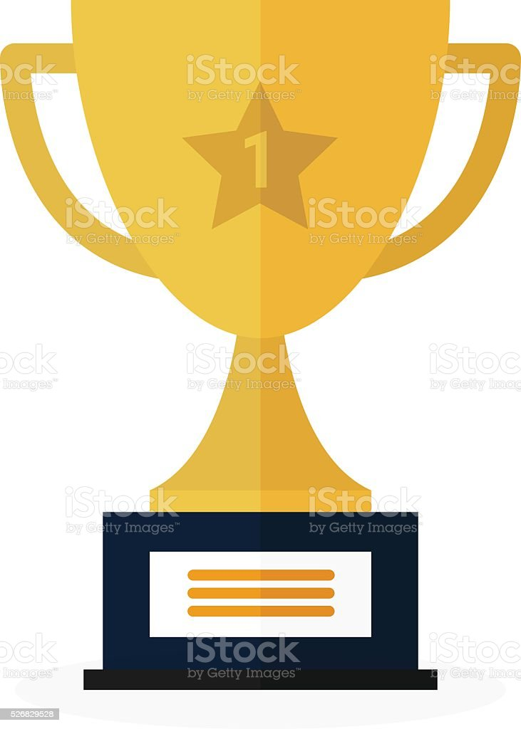 Vector Trophy Cup Flat Icon vector art illustration