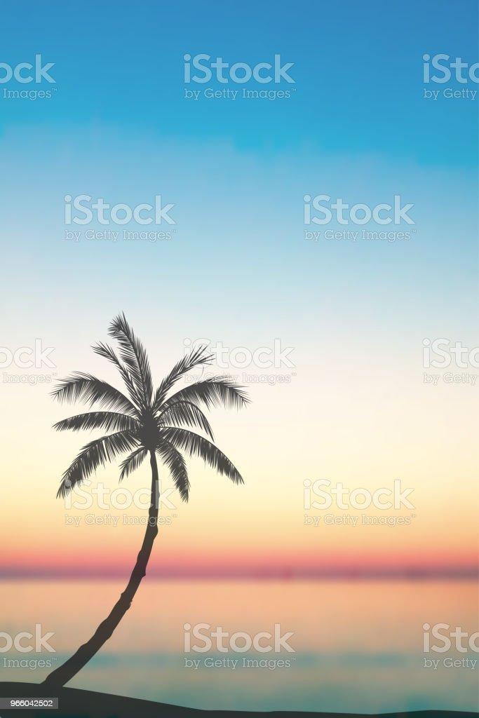 Vector tropische Insellandschaft - Lizenzfrei Baum Vektorgrafik