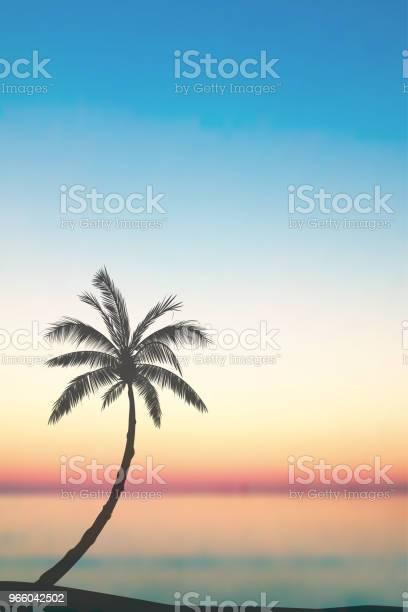 Vector Tropische Insellandschaft Stock Vektor Art und mehr Bilder von Baum