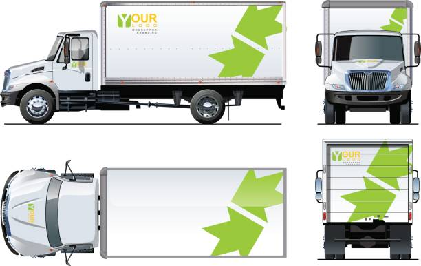 royalty free box truck clip art vector images illustrations istock