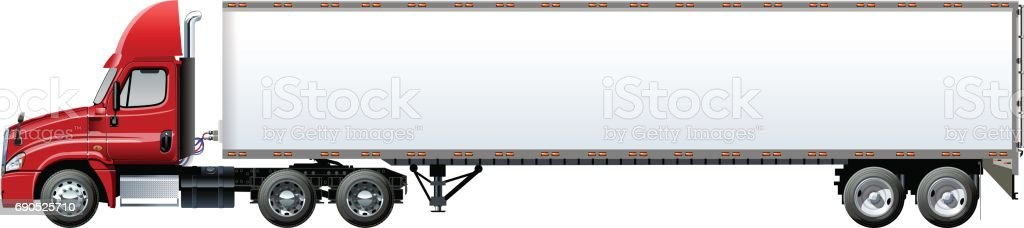 Vector truck template isolated on white vector art illustration