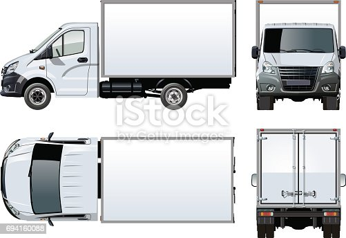 istock Vector truck template isolated on white 694160088