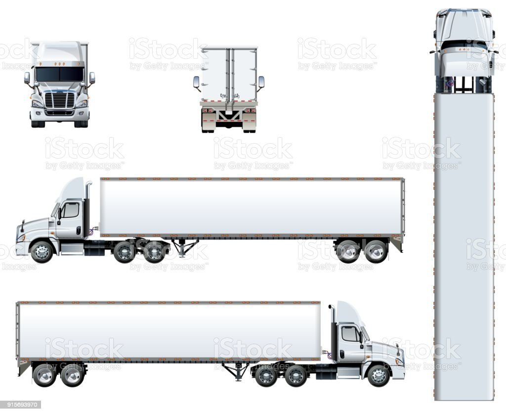 Semi Truck Illustrations  Royalty