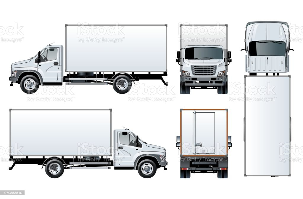 Truck Template | Vector Truck Template Isolated On White Stock Vector Art More