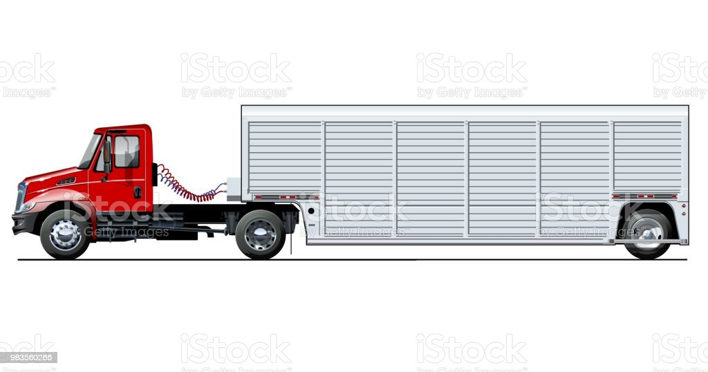 vector truck template isolated on white stock vector art more