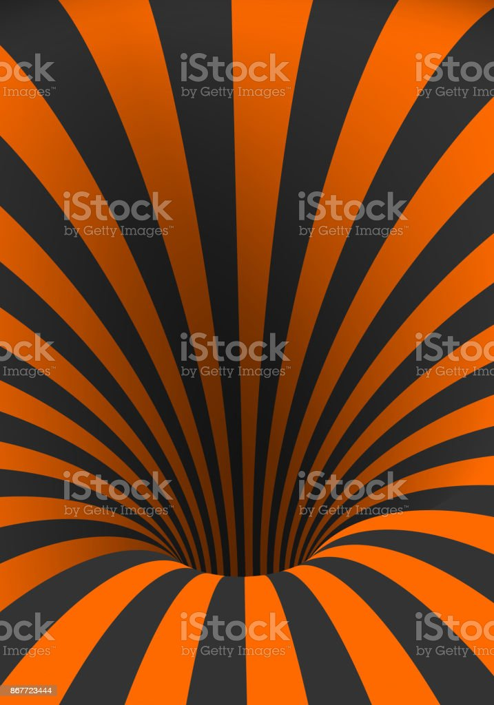 Vector Tunnel Template Spiral Illusion Twisted Vortex Shape Stock  Illustration - Download Image Now