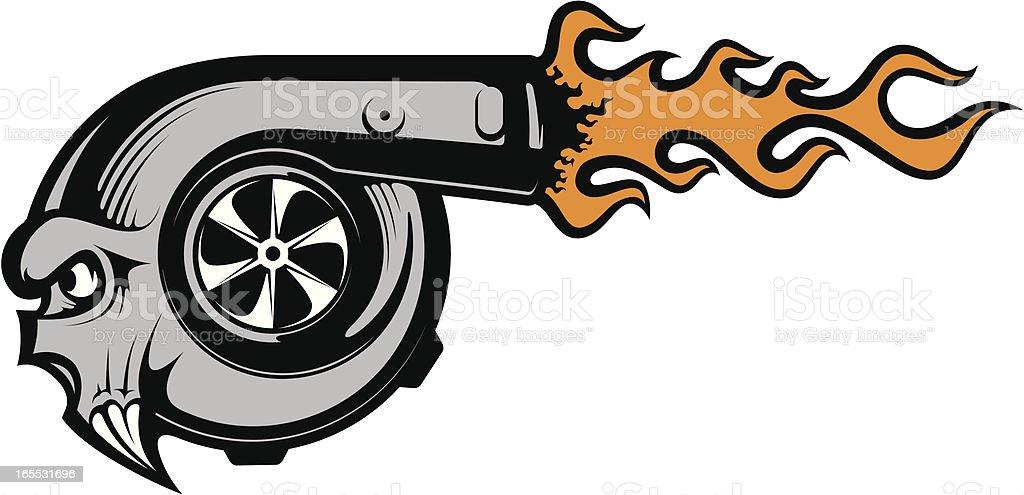 Vektor turbocharger – Vektorgrafik