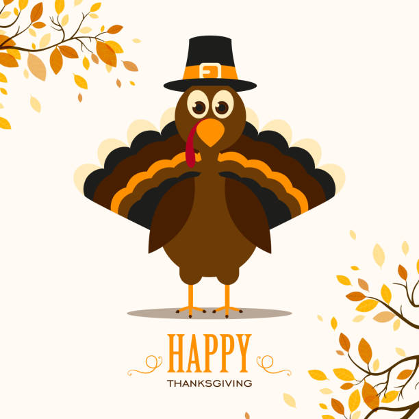 wektor turcja i jesienią liście - turkey stock illustrations