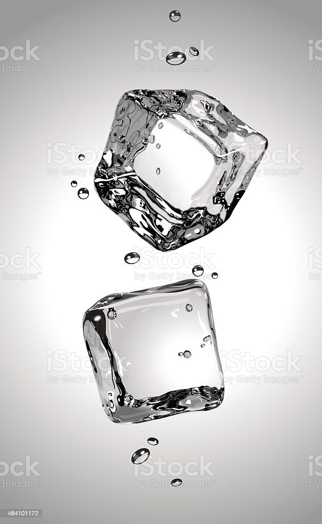 Vector. Two ice cubes. EPS10. vector art illustration