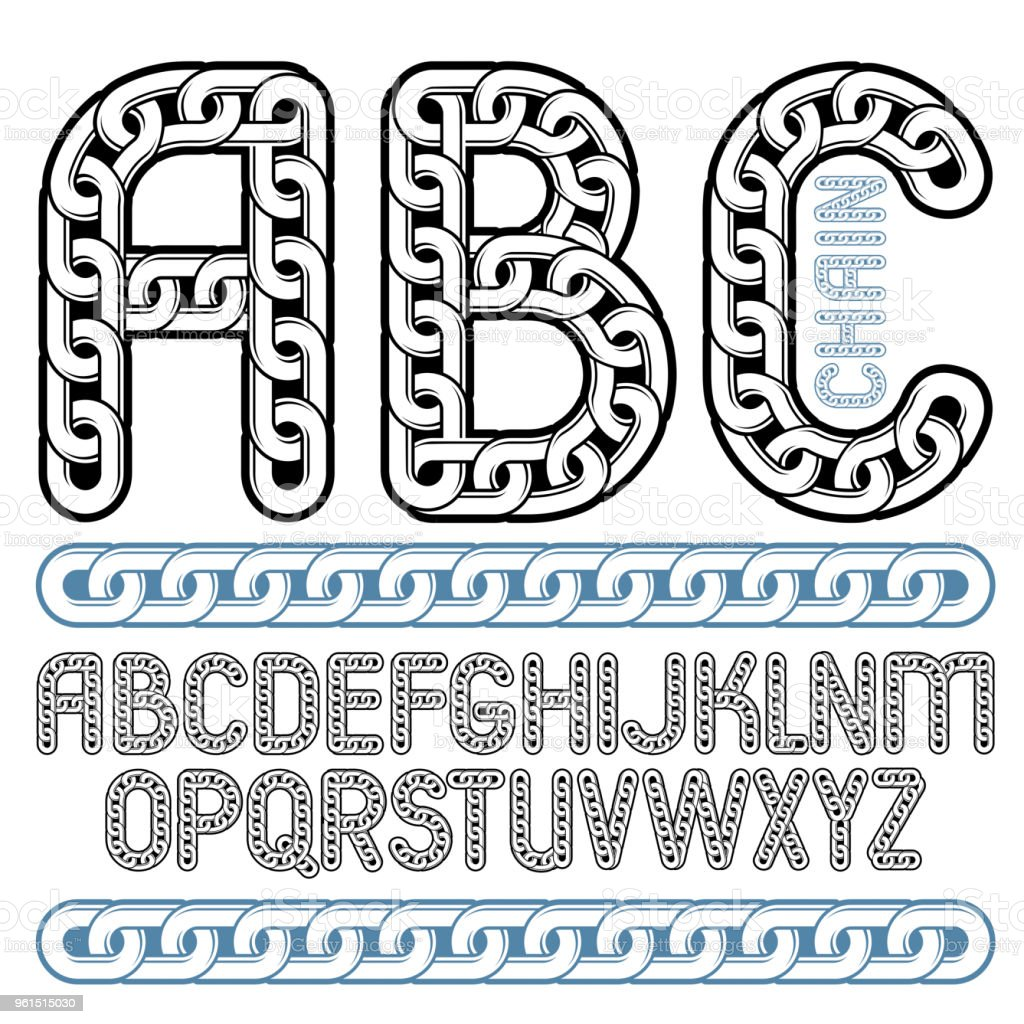Vector Type Font Script From A To Z Capital Decorative