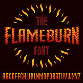 Vector typescript made with hot flaming design
